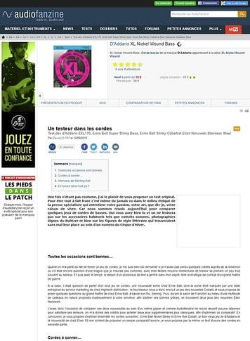 Audiofanzine.com D'Addario [XL Nickel Round Wound Series] EXL170 45-100 Light Long Scale
