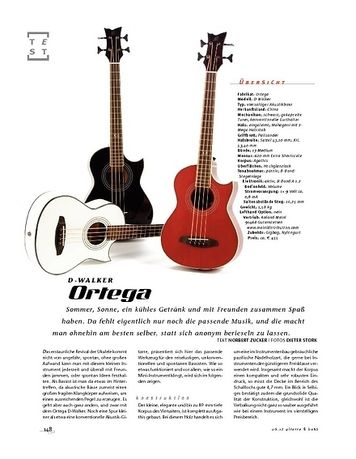 Gitarre & Bass Ortega D-Walker, Akustik-Bass