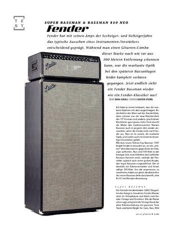 Gitarre & Bass Fender Super Bassman & Bassman 810 Neo, Bass-Anlage