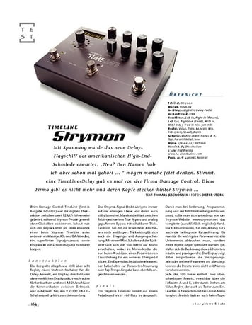Gitarre & Bass Strymon TimeLine, Delay-Pedal