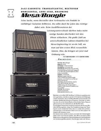 Gitarre & Bass Mesa/Boogie 2×12-Cabinets: Transatlantic, Rectifier Horizontal, Lone Star, Roadking