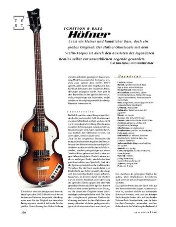 Gitarre & Bass Höfner Ignition B-Bass