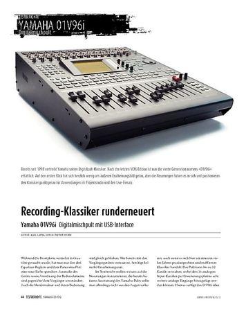 Sound & Recording Yamaha 01V96i: Digitalmischpult mit USB 2.0 und Software-Bundle