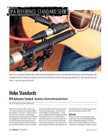 Sound & Recording DPA Reference Standard Serie: Modulare Kleinmembran-Studiomikrofone