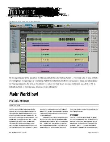 Sound & Recording Pro Tools 10 − Update
