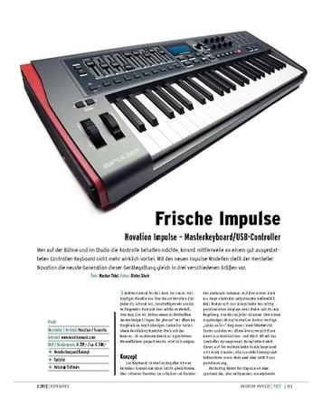 Keyboards Novation Impulse – Masterkeyboard/USB-Controller