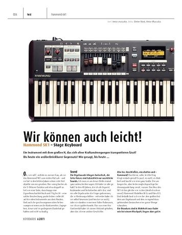 Keyboards Hammond SK1 – Stage Keyboard
