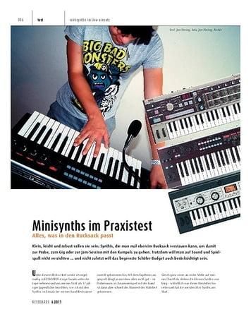 Keyboards Minisynths – Korg MicroKorg-Serie und R3 im Praxistest