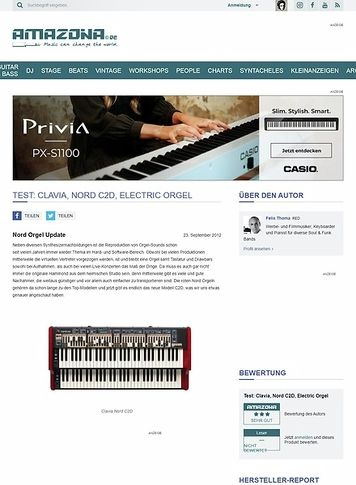 Amazona.de Test: Clavia, Nord C2D, Electric Orgel