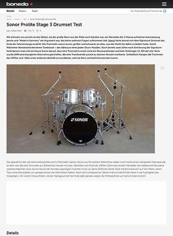 Bonedo.de Sonor Prolite Stage 3 Drumset
