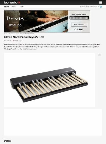 Bonedo.de Clavia Nord Pedal Keys 27