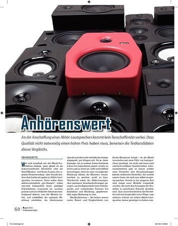 Professional Audio Desktop und Nahfeld Monitore