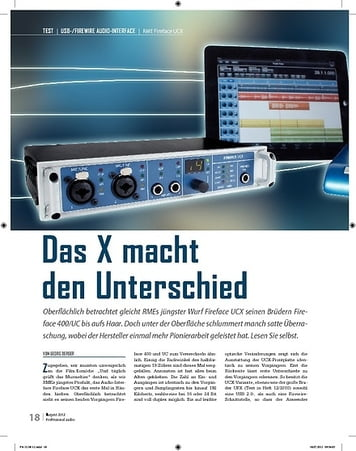 Professional Audio RME Fireface UCX