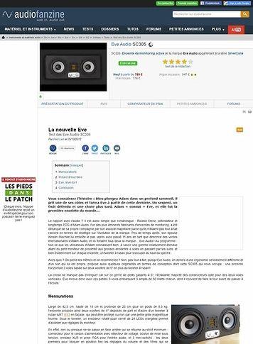 Audiofanzine.com Eve Audio SC305