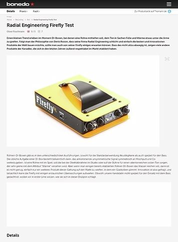 Bonedo.de Radial Engineering Firefly