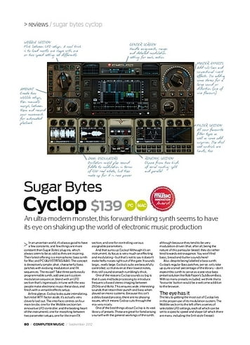 Computer Music Sugar Bytes Cyclop