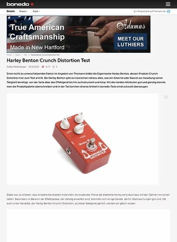 Bonedo.de Harley Benton Crunch Distortion