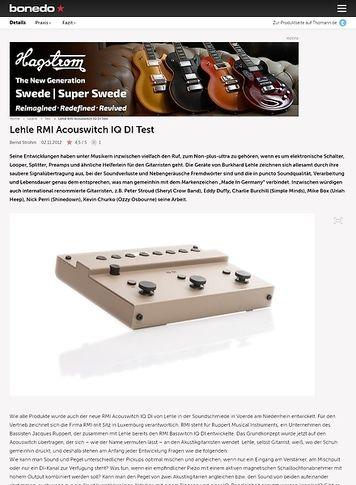 Bonedo.de Lehle RMI Acouswitch IQ DI Test