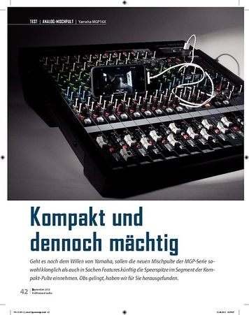 Professional Audio Kompakt und  dennoch mächtig: Yamaha Yamaha MGP16X