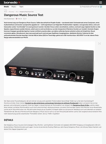 Bonedo.de Test Preview: Dangerous Music Source