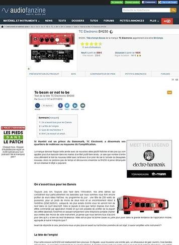Audiofanzine.com TC Electronic [BH Amps Series] BH250