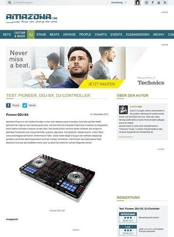 Amazona.de Test: Pioneer, DDJ-SX, DJ-Controller