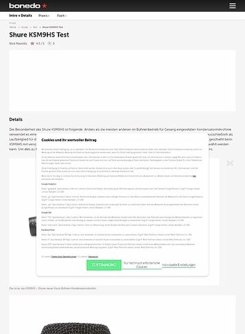 Bonedo.de Shure KSM9HS Test Preview