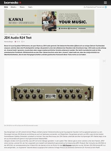 Bonedo.de JDK Audio R24 Test