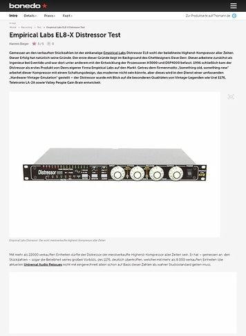 Bonedo.de Empirical Labs EL8-X Distressor Test