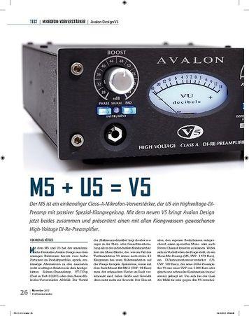 Professional Audio Avalon Design M5 + U5 = V5