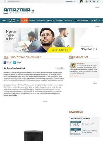 Amazona.de Test: QSC, KW122, Aktivlautsprecher