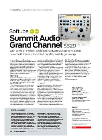 Computer Music Softube Summit Audio Grand Channel
