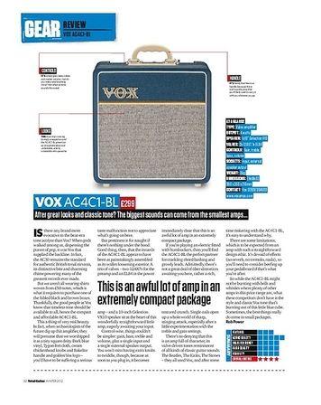 Total Guitar VOX AC4C1-BL