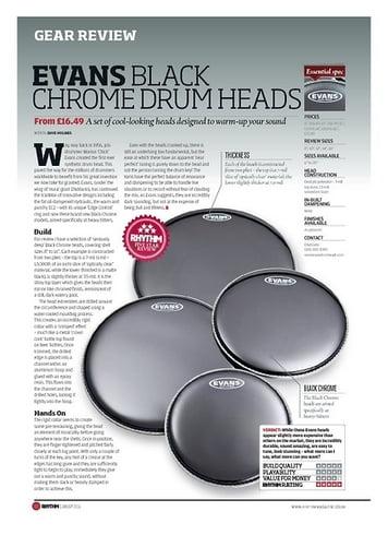 Rhythm EVANS BLACK CHROME DRUM HEADS