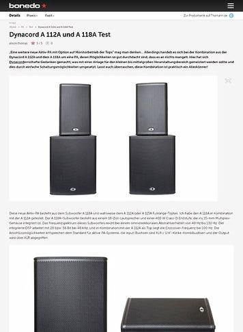 Bonedo.de Dynacord A 112A und A 118A Test