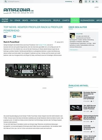 Amazona.de Top News: Kemper Profiler Rack & Profiler PowerHead
