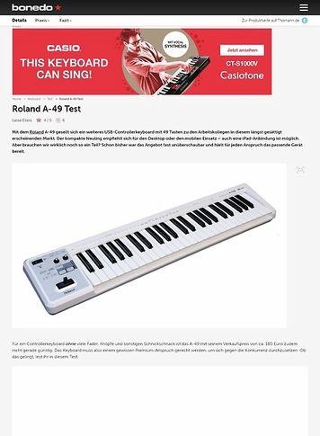 Bonedo.de Roland A-49 Test