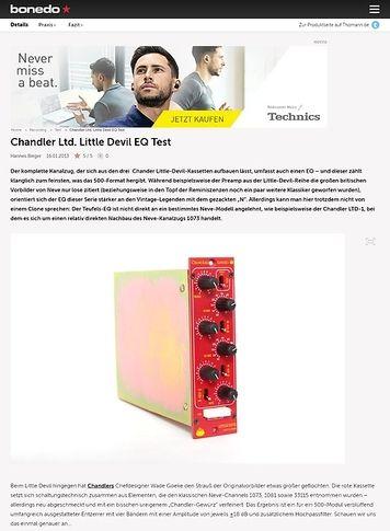 Bonedo.de Chandler Ltd. Little Devil EQ Test