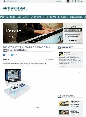 Amazona.de Top News: Arturia, SparkLE, MiniLab, Drum Machine, Controller
