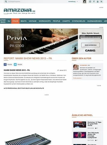 Amazona.de Report: NAMM Show News 2013 - PA