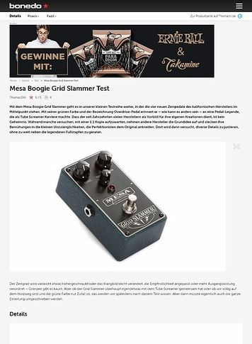 Bonedo.de Mesa Boogie Grid Slammer Test