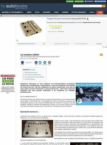 Audiofanzine.com Ruppert Musical Instruments Acouswitch IQ DI