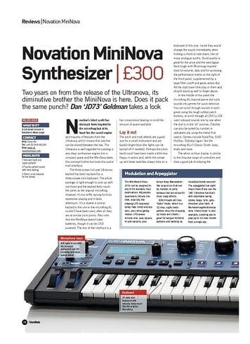 Future Music Novation MiniNova Synthesizer