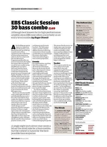 Guitarist EBS Classic Session 30 bass combo