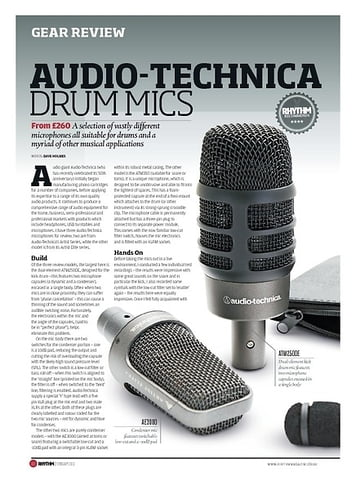 Rhythm AUDIO-TECHNICA DRUM MICS