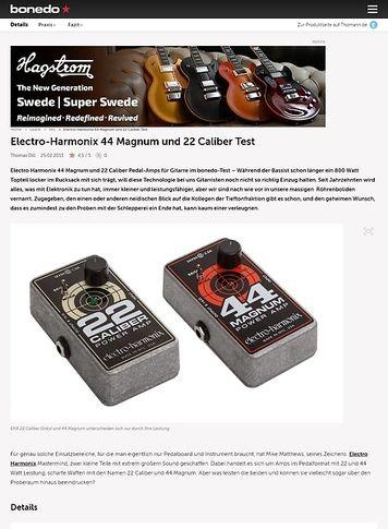 Bonedo.de Electro Harmonix 44 Magnum und 22 Caliber Test