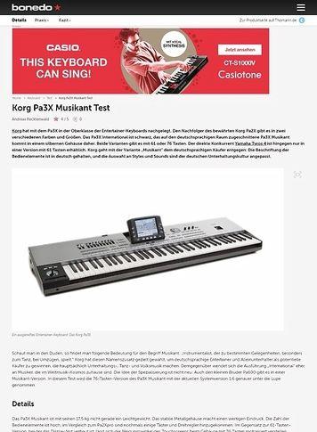 Bonedo.de Korg Pa3X Musikant Test