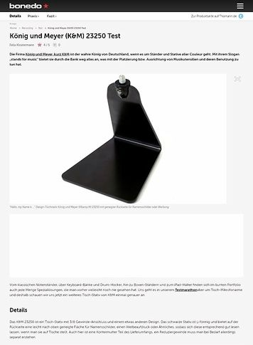 Bonedo.de König und Meyer (K&M) 23250 Test