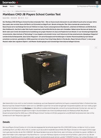 Bonedo.de Markbass CMD JB Players School Combo Test