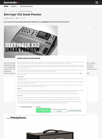 Bonedo.de Behringer X32 Sneak Preview